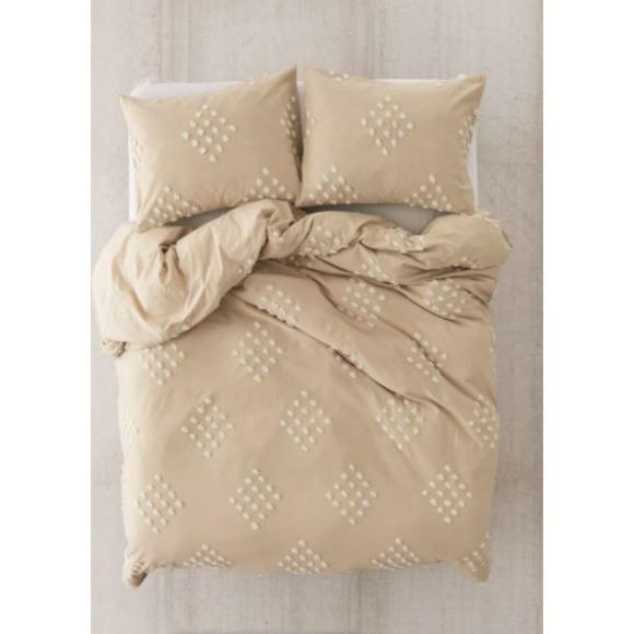 NWOT UO Tufted Geo Pillow Sham Set